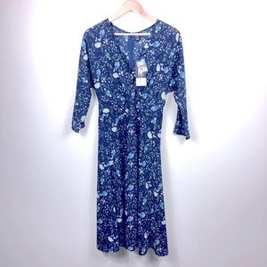Izabel London blue midi dress size M